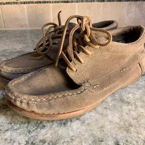 Frye Quincy Chukka Leather Boat Shoes 7m